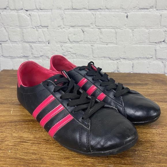 ADIDAS Original Vintage Black/Pink Leather Sneaker